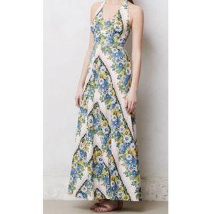 Postmark Anthropologie Floral Soraya Maxi Dress